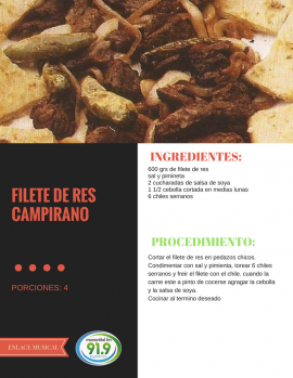Filete de Res Campirano